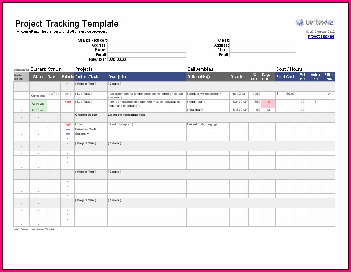 Project Management Template In Excel