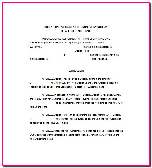 Promissory Note Amendment Template