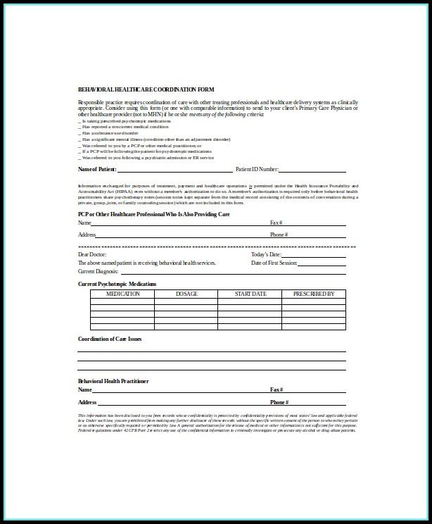 Psychotherapy Progress Note Form