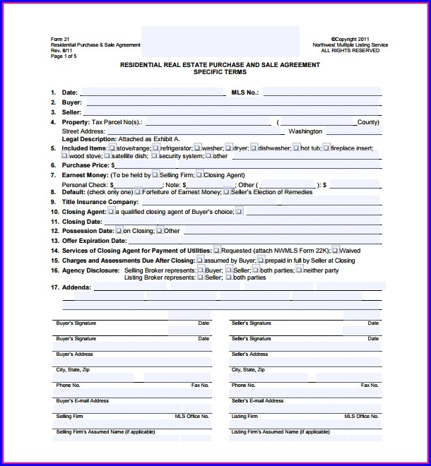 Real Estate Sales Agreement Template Pa