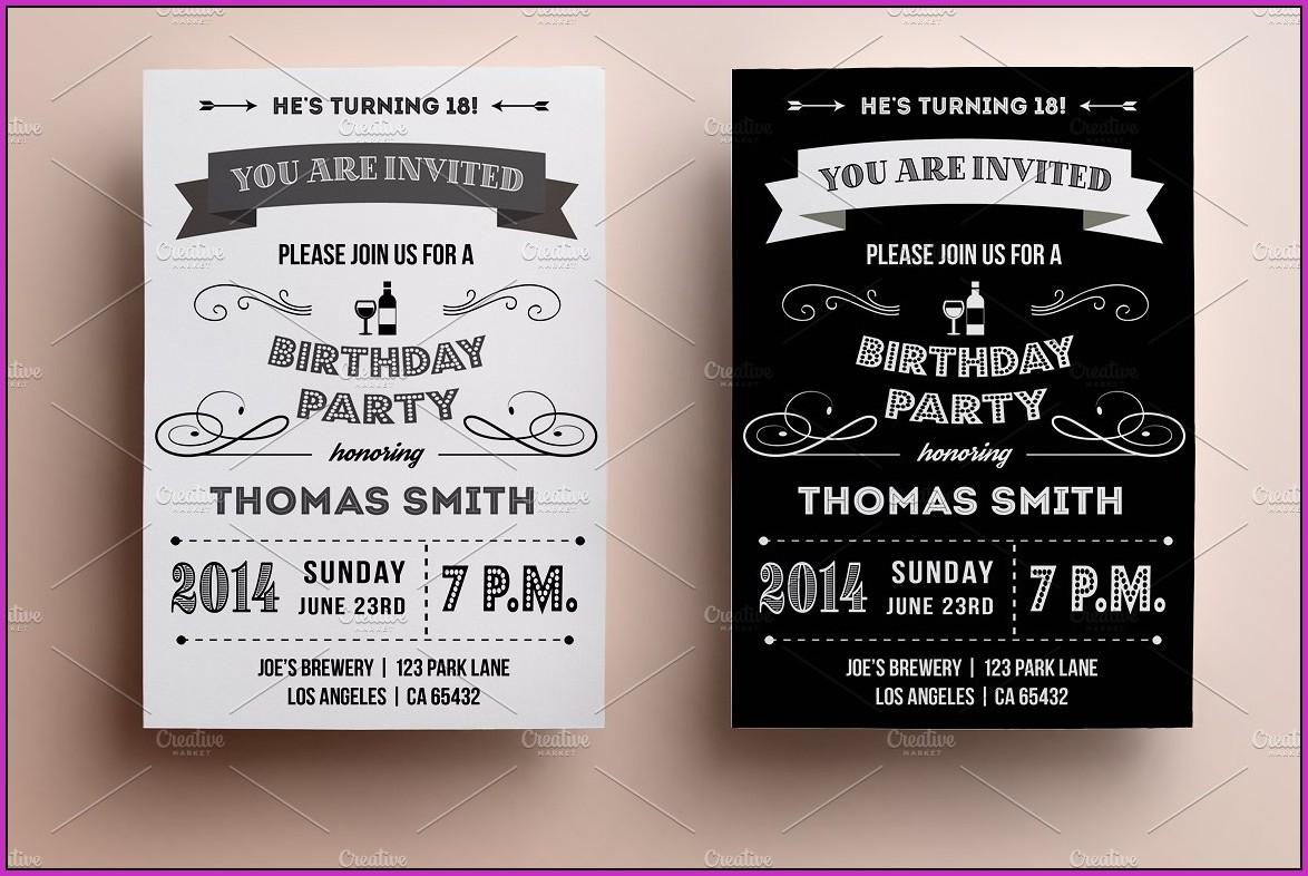 Retro Birthday Invitation Templates Free