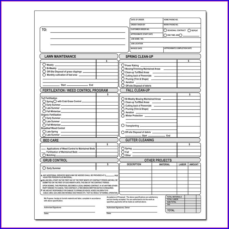 Roofing Contractor Invoice Template