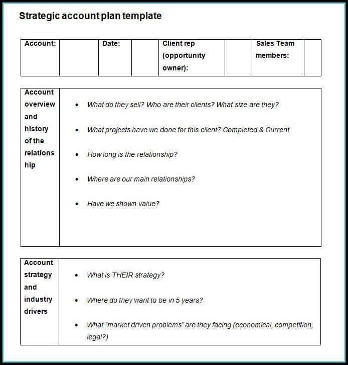 Strategic Account Plan Template