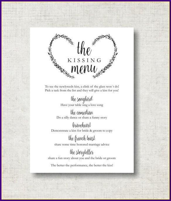 Wedding Reception Sign Templates