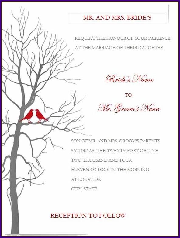 Wedding Reception Templates For Microsoft Word