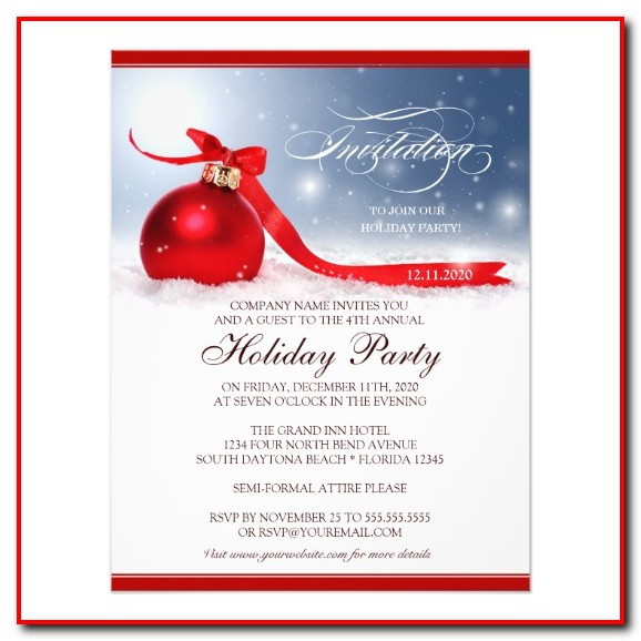 Company Christmas Party Invitation Template