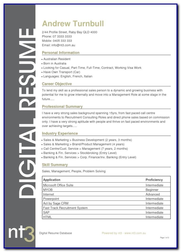Best Resume Sample Australia Www.buzznow.tk Resume Template Australia 2017