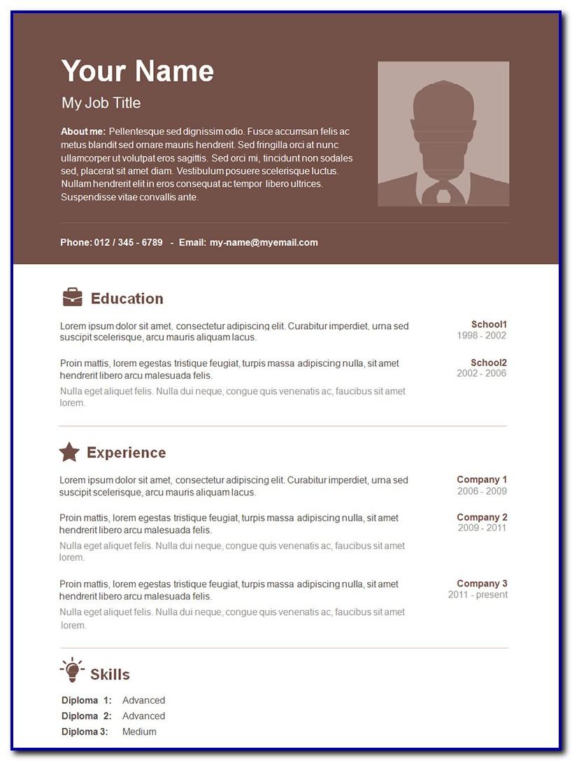 Free Elegant Resume Template Microsoft Word