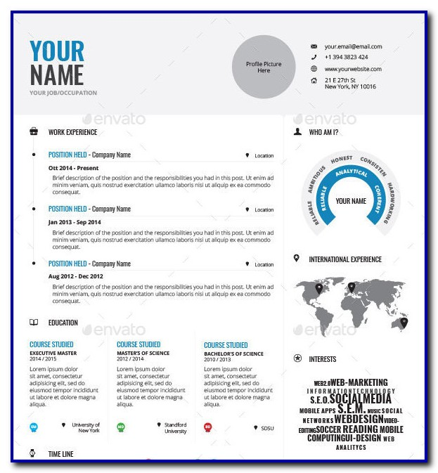 Free Infographic Resume Template Microsoft Word