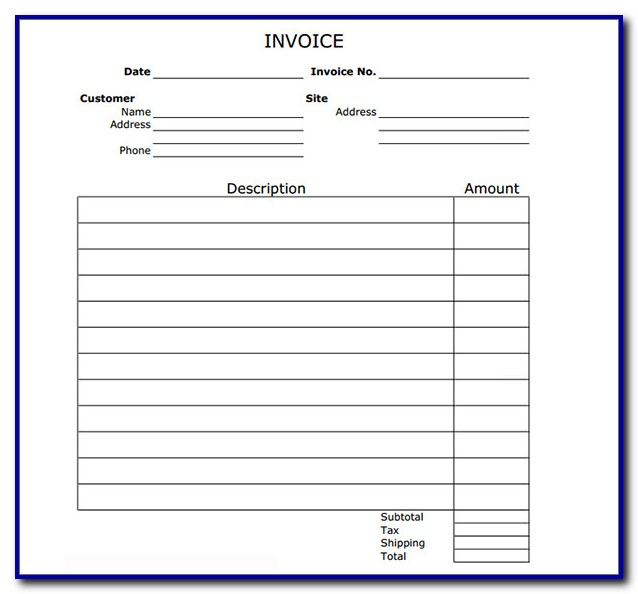 Free Printable Invoice Templates Word