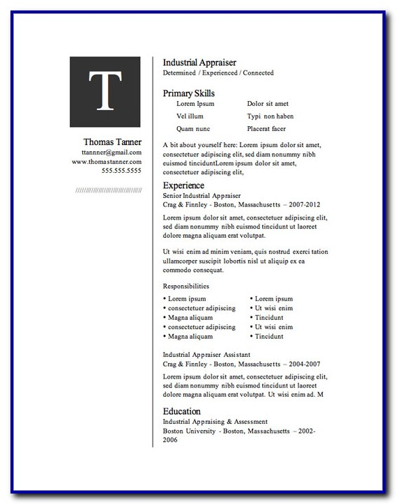 Free Resume Templates Microsoft Word 2013