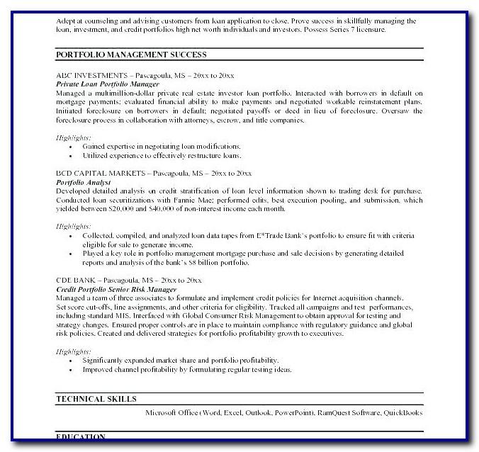 Sample Resume Nursing Portfolio Template