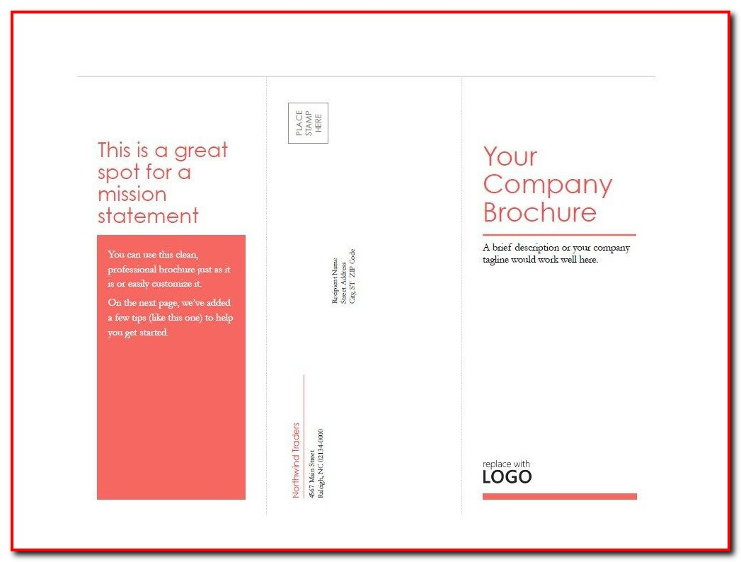 Tri Fold Brochure Template Free Printable