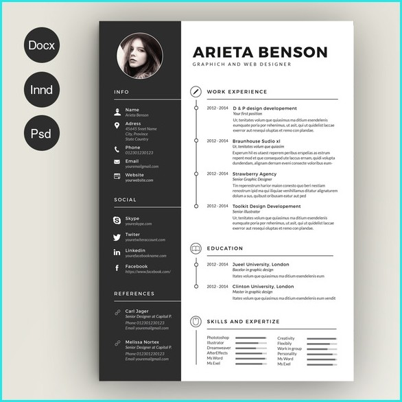 Awesome Resume Templates Download