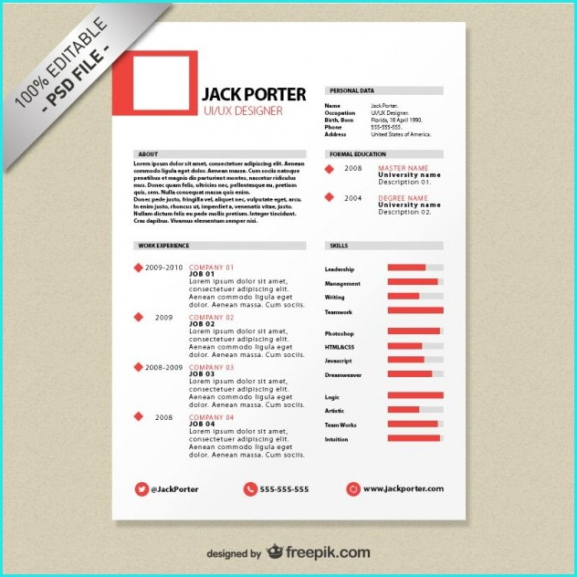 Download Creative Resume Templates Free