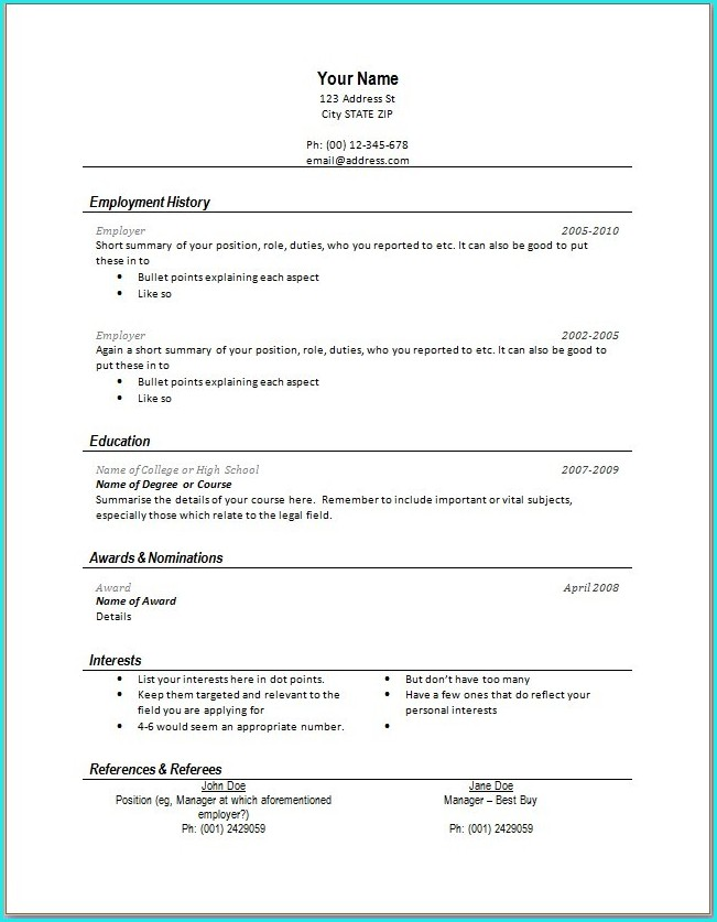 Download Resume Templates For Google Docs