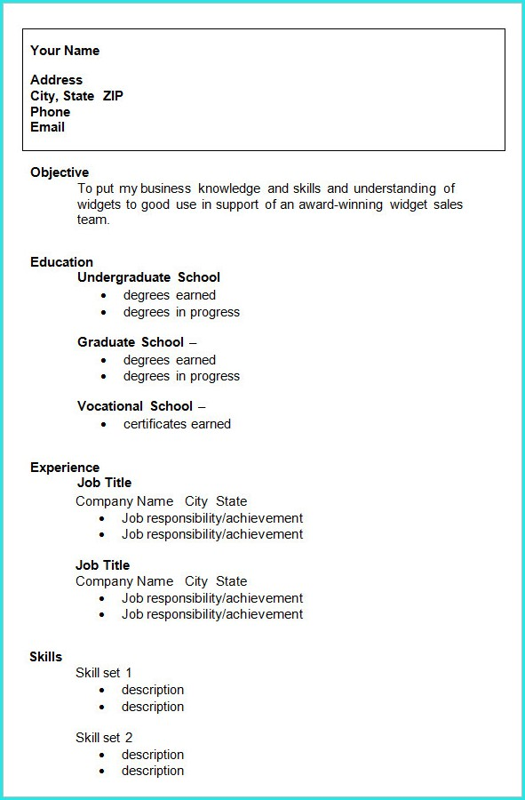 Download Resume Templates For Students
