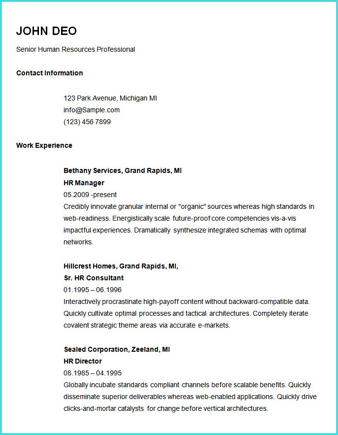 Download Simple Resume Templates