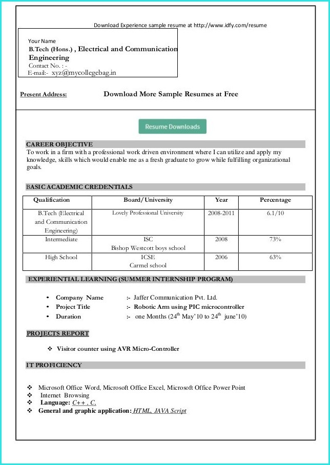 How To Download Resume Templates In Microsoft Word 2010