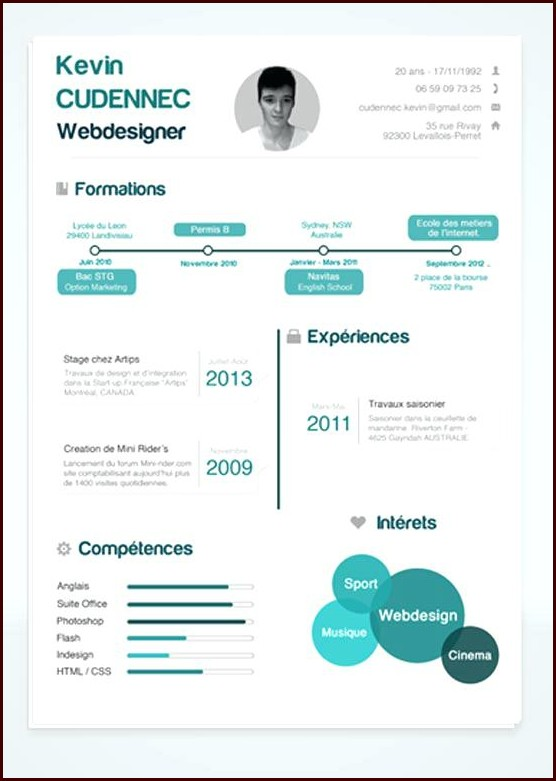 Free Infographic Resume Templates Word