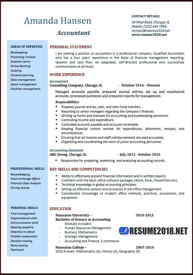 Free Resume Templates Word 2018