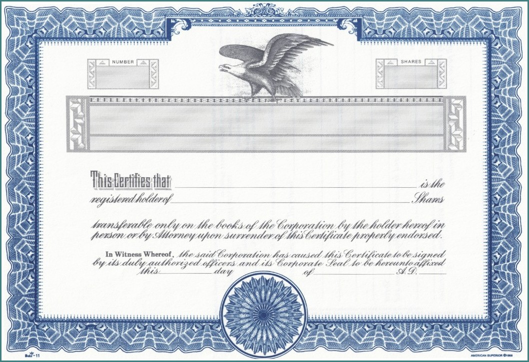 Free Stock Certificate Template Microsoft Word