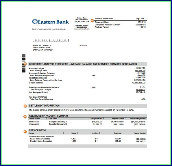 Bank Statement Template Doc
