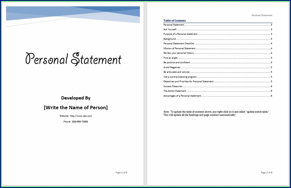 Bank Statement Template Microsoft Word