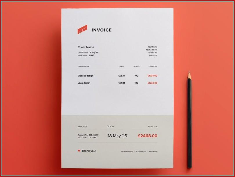 Free Invoice Template Design