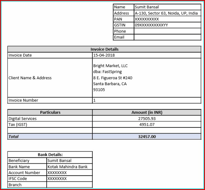 Free Invoice Template Generator