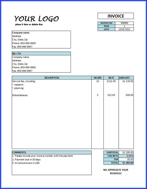 Pay Stub Template For Contractors