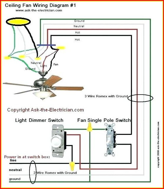 Ceiling Fan Light Kit Wiring Diagram