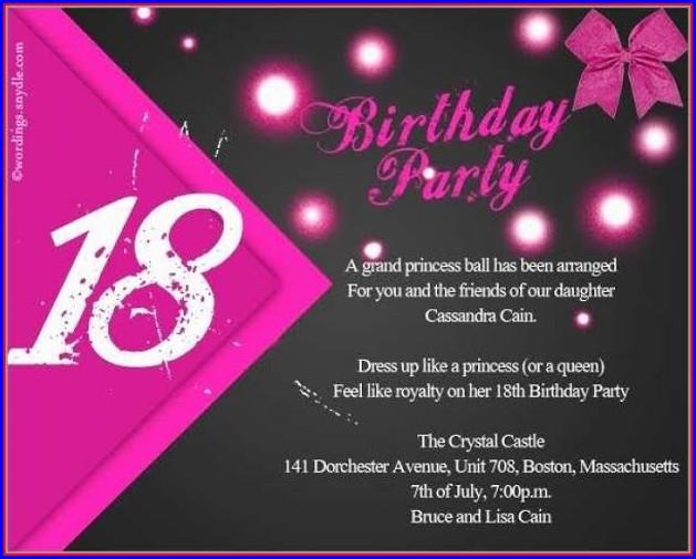18th Birthday Invitation Templates Free Download