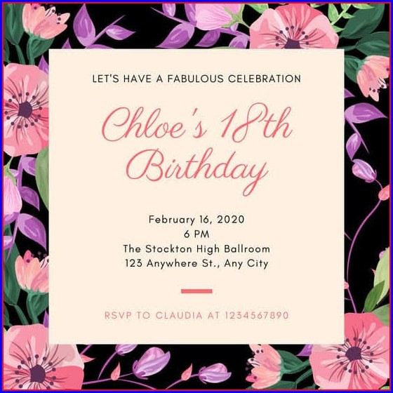18th Birthday Invitation Templates