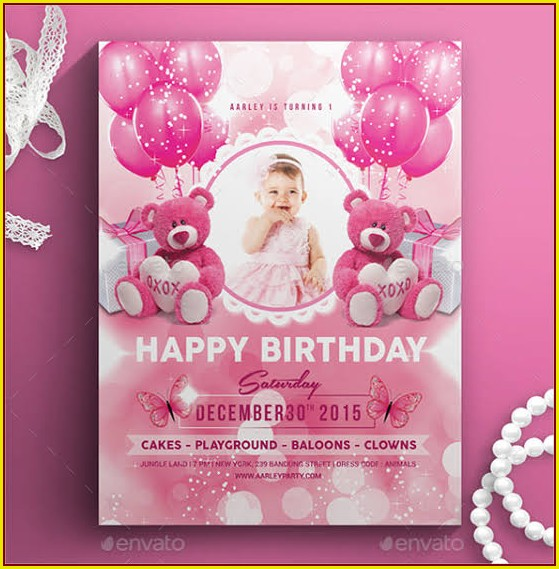 2nd Birthday Party Invitation Templates Free