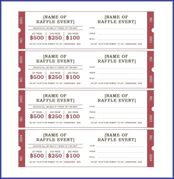 Bbq Tickets Templates
