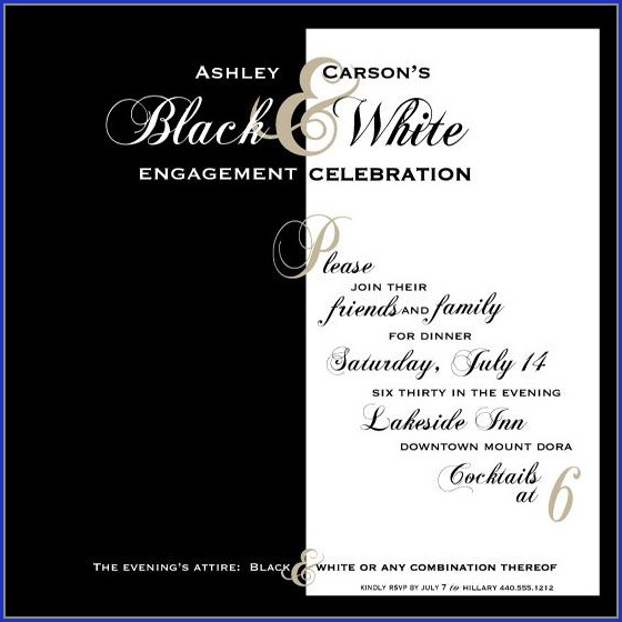 Black And White Party Invitation Template