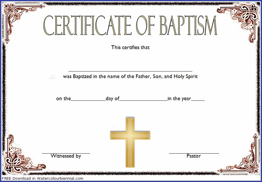 Catholic Baptism Certificate Template Word