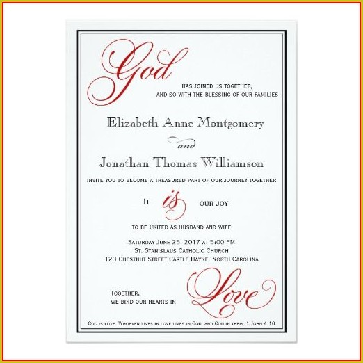 Christian Wedding Card Templates