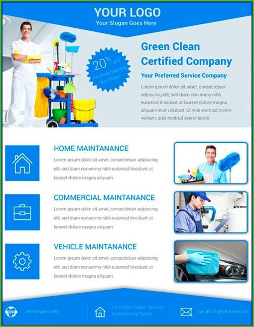 Cleaning Services Flyers Templates