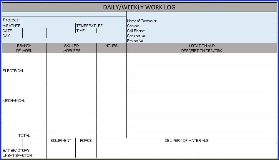 Construction Project Tracking Template Excel