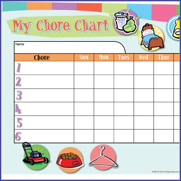 Customizable Chore Chart Template