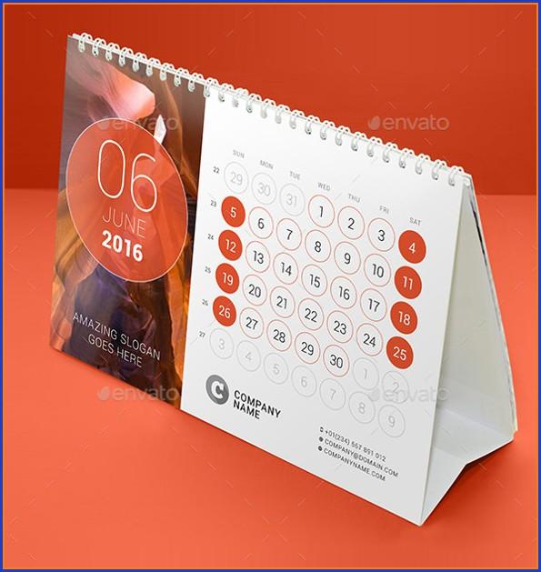 Desk Calendar Template Free