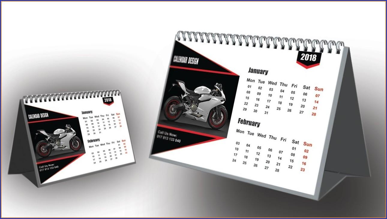 Desk Calendar Template Illustrator