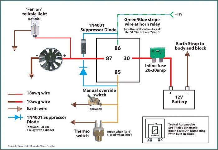 Electric Fan Wiring Diagram With Relay