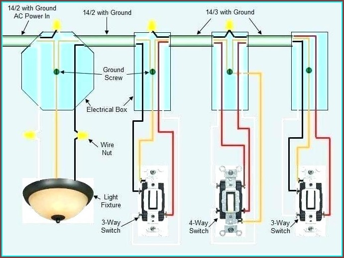 Electrical 4 Way Switch Wiring Diagram