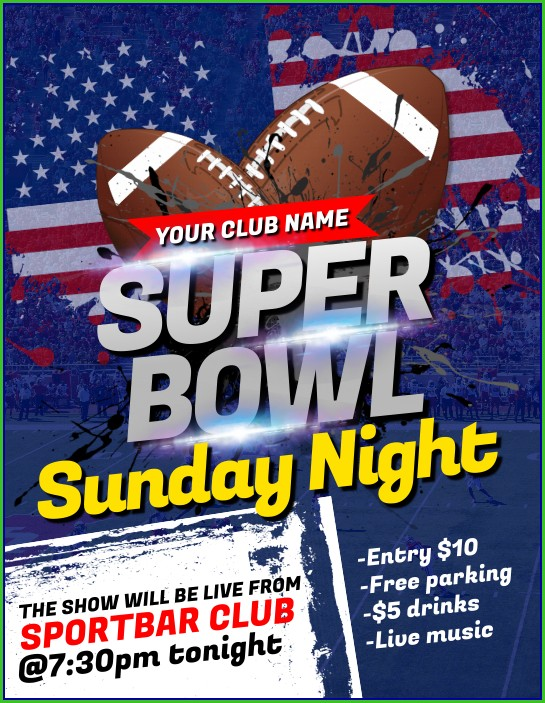 Football Fundraiser Flyer Templates Free