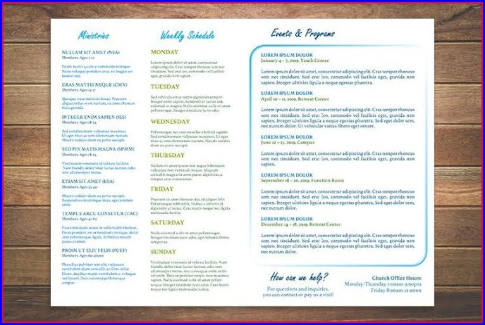 Free Blank Church Bulletin Templates
