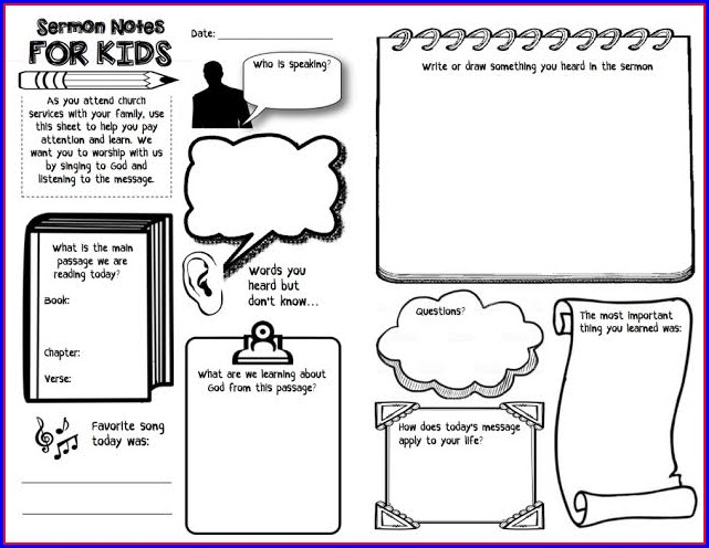 Free Children's Church Bulletin Templates
