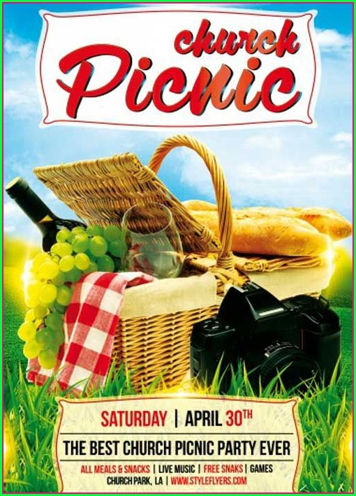Free Church Picnic Flyer Templates
